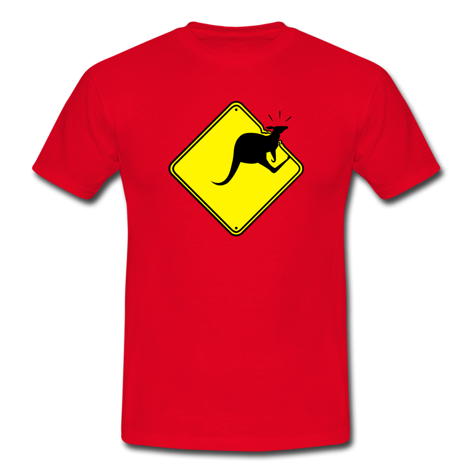 Kanga-through-the-roof T-shirt (vectorillustratie)