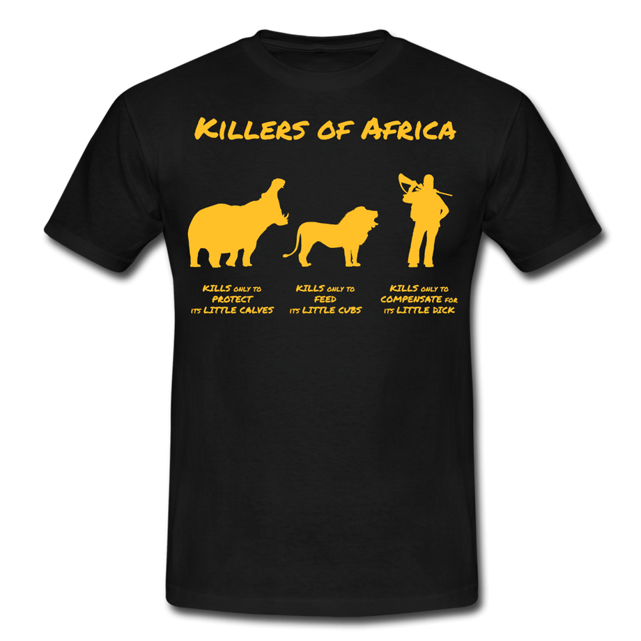 Killers of Africa T-shirt (vectorillustratie)