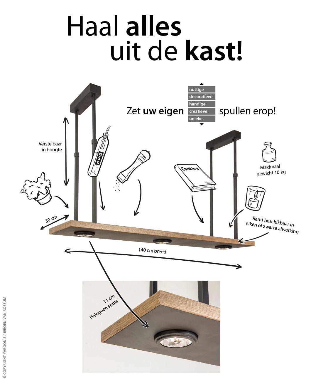 Tray hanglamp advertentie A4 - Haal alles uit de kast!