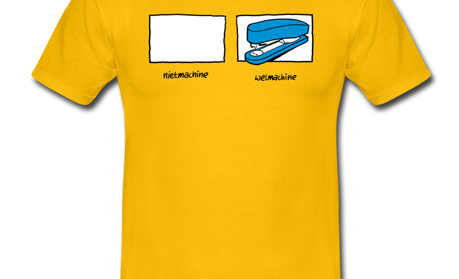 Nietmachine / Welmachine T-shirt (vectorillustratie)